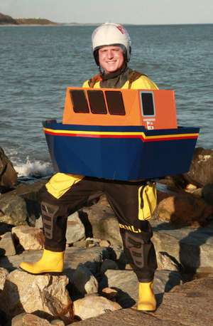 My lifeboat costume for the 2019 Dublin Marathon